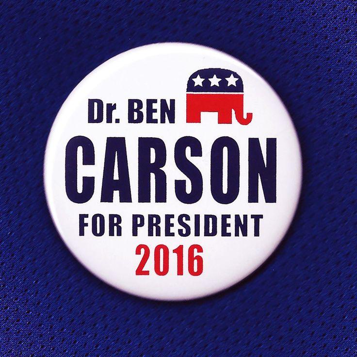 Ben Carson Dr. Ben Carson for President 2016 Button Pin GOP Republican Detroit GO BEN CARSON!!!!