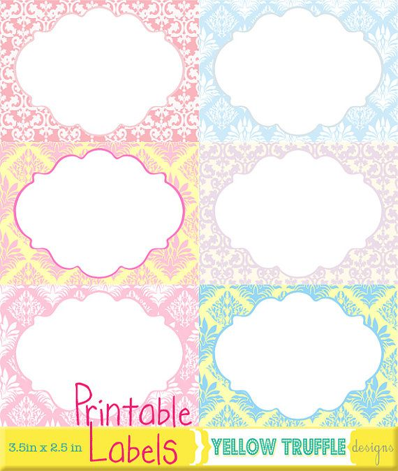 Romantic Labels and Frames Printable Cliparts for by yellowtruffle, $2.00