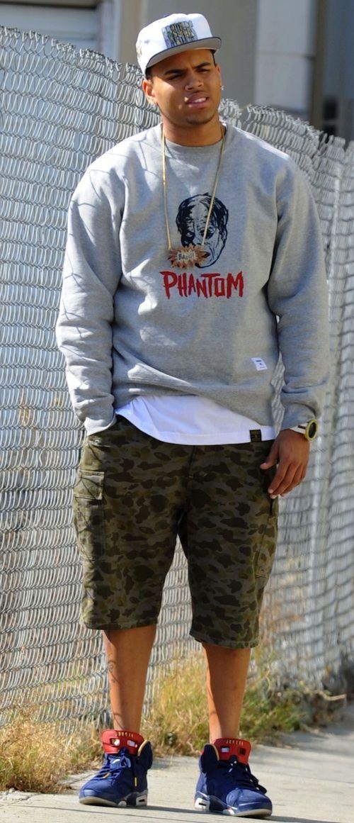 Chris Brown was seen rocking a fresh pair of Air #Jordan VI