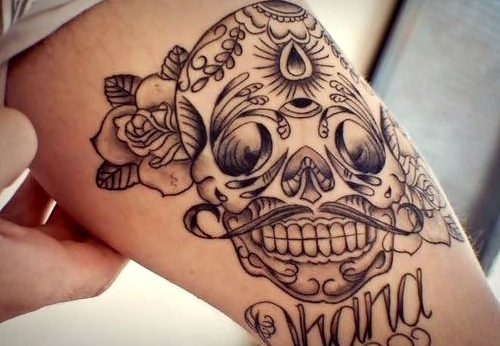 skull tatto: Tattoo Ideas, Third Eye, Moustache, Sugar Skull Tattoo, Chest Tattoo, Mexicans Skull, Candy Skull, Mustache, Tattoo Ink