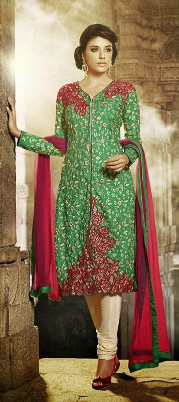 407555: MICRO FLOWERS for your wardrobe garden. Get the girl-next-door look. #Salwarkameez