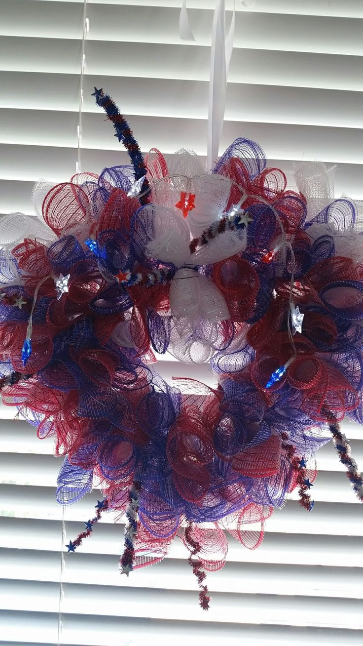 Wreath heart and deco mesh and lights from DT. I used pipe ...