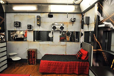 Punk rock bedroom on Big Brother
