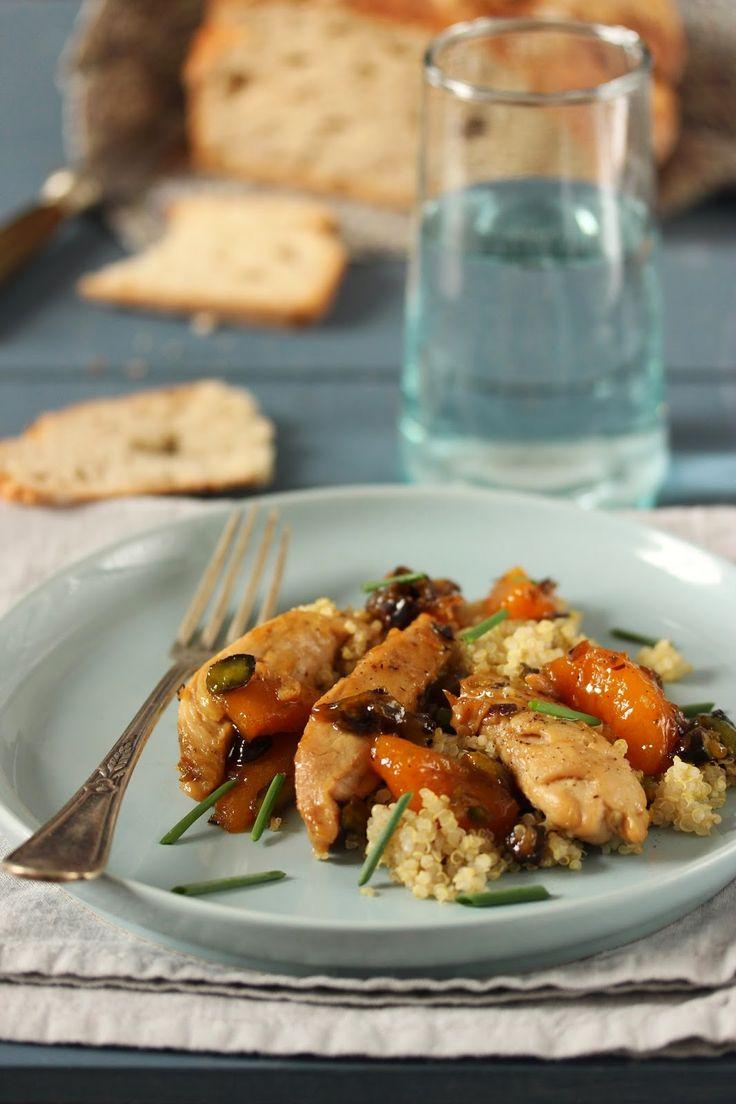 Dans la cuisine de Sophie: Poêlée de quinoa aux aiguillettes de volaille et aux abricots