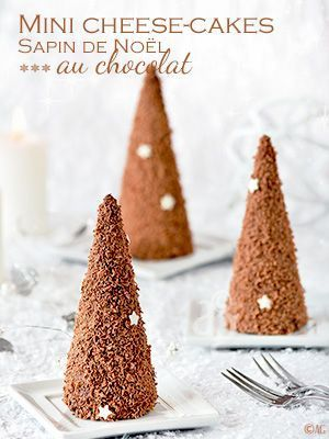 Mini cheesecakes Sapin de Noël au chocolat (sans cuisson) - Alter Gusto