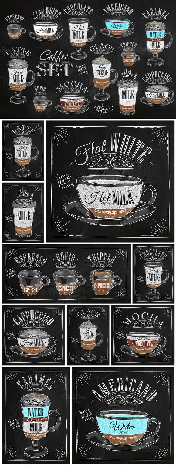 Set Coffee by Anna on Creative Market