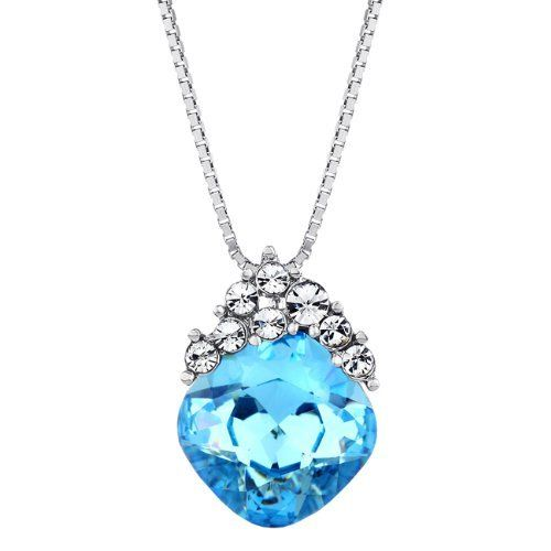 Forever Love Heart Pendant Ocean Blue Swarovski Element Crystal Necklace for Teen Girl Neoglory Jewelry. $18.00. Auden rhinestones. There are four colors purple, ocean blue, blue and rose, you can find the anothers in Neoglory Jewelry.. platinum plated. Save 25% Off!
