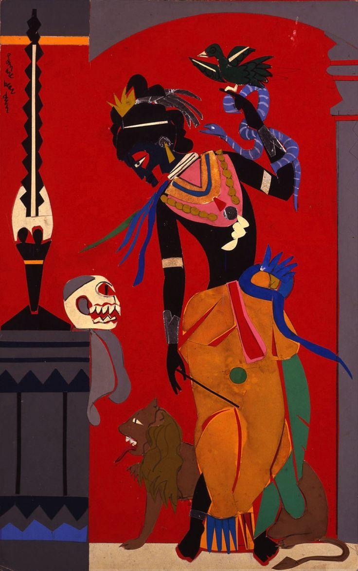 magictransistor:  Romare Bearden,  Circe (Κίρκη); The Sorceress (Goddess of Magic), The Odysseus Series, 1977.