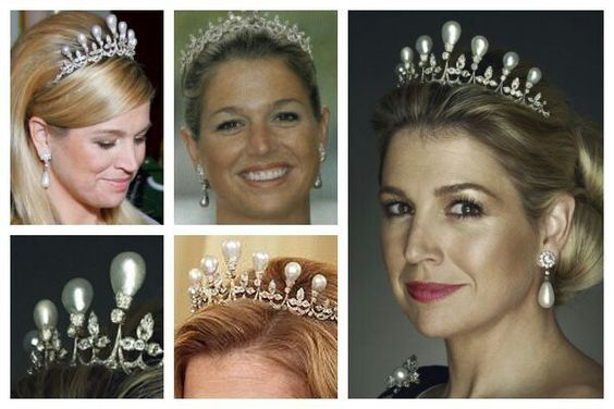 The Antique Pearl TiaraThe Dutch Royal Family's Antique Pearl Tiara was made around 1900 for Queen Wilhelmina. It's design was based on a pearl and diamond tiara belonging to Grand Duchess Anna...