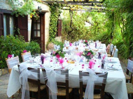 Under £3,000 for 20 people. Traditional Cyprus Inn Wedding near Paphos This traditional Inn is situated in a peaceful Cypriot village, about 15 mins drive from Paphos and dates back more than 100 years. It offers a unique opportunity to hire a traditional rustic venue for your wedding in Cyprus. Surrounded by lemon and olive groves, the inn enjoys views of the Troodos mountains and down the valley to the sea. Its courtyards are covered in bougainvillea and vines.