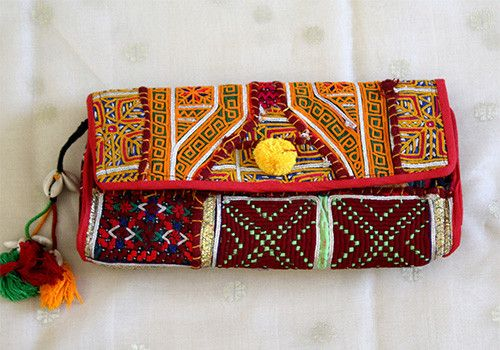 Vintage Kutch Embroidery Clutch (Design 37) – Desically Ethnic