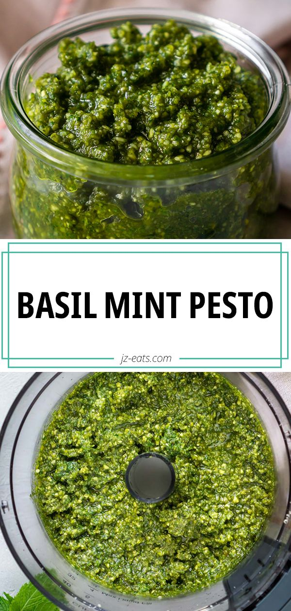 Fresh homemade pesto is way better than store bought pesto, but this Basil Mint Pesto recipe is one that'll get people t…