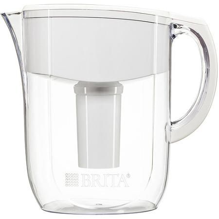 Brita Everyday Water Filtration Pitcher, White - Walmart.com
