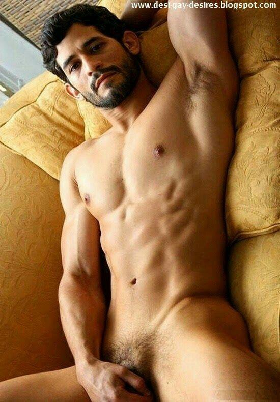 Naked sexy desi man