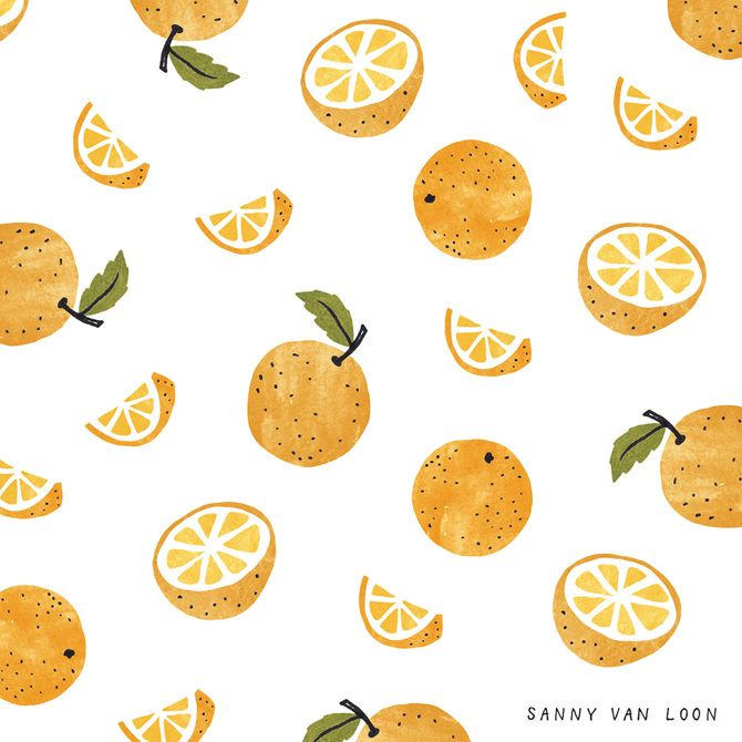Orange pattern by Sanny van Loon • Illustration
