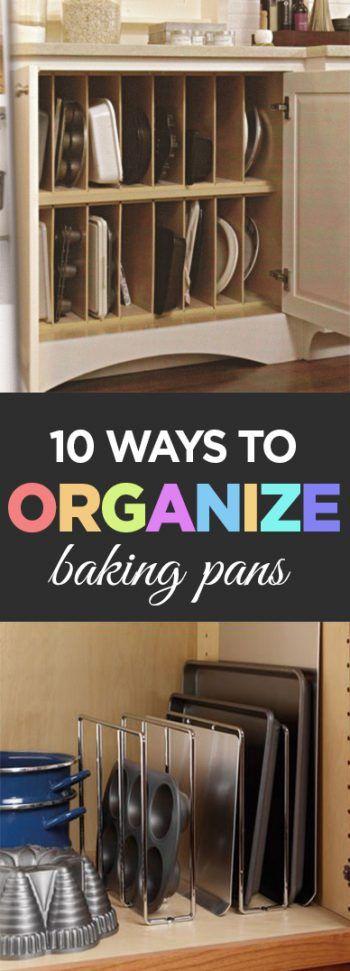 Baking Pans, Organize Baking Pans, Kitchen Organization, Popular Post, Easy  Organizing,