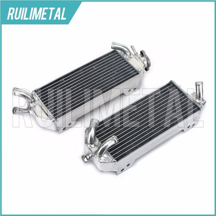 Aluminium Cores MX Offroad motocross cooling Radiators for SUZUKI DRZ400E 02 03 04 05 06 07 2002 2003 2004 2005 2006 2007 #Affiliate