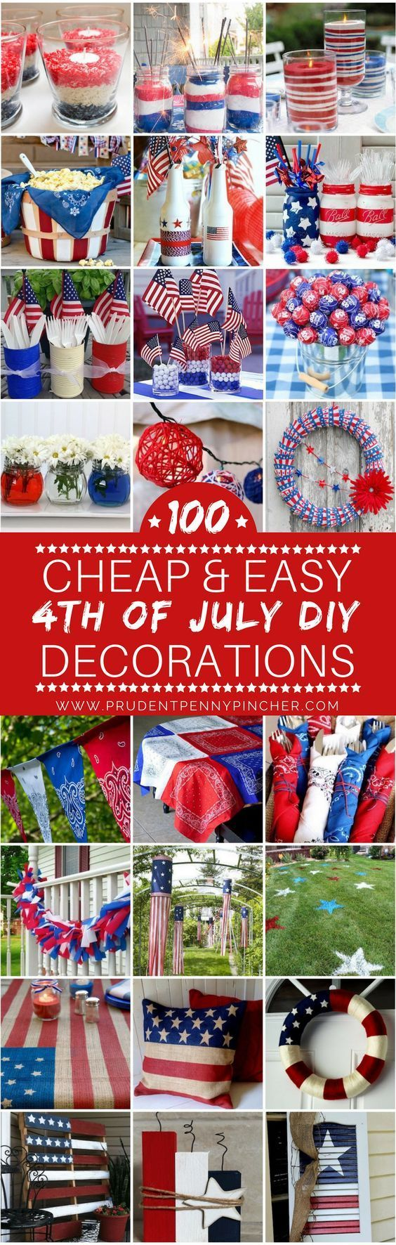100 billig und einfach 4. Juli DIY Party Decor Ide…