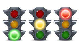 Traffic Lights Set Royalty Free Stock Photo