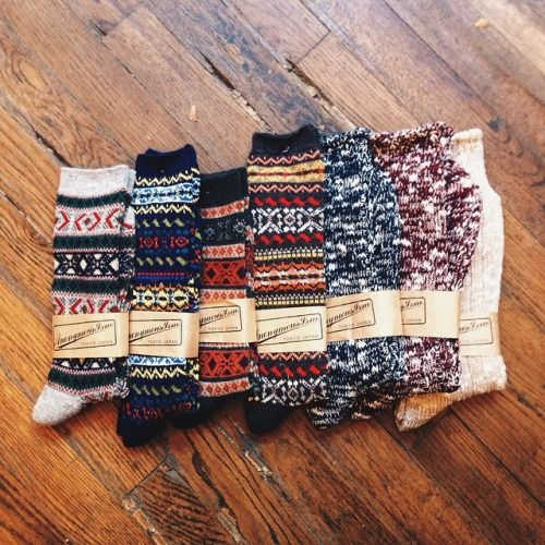 artintheage: socks in stock.