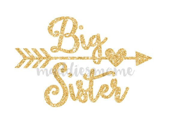 Big Sister Gold Glitter DIY Iron on T Shirt by MaddiesMomE on Etsy