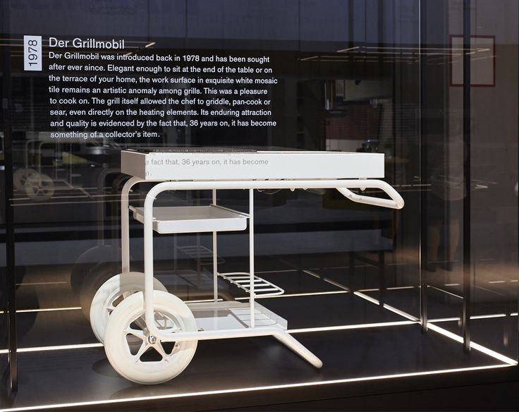 """In 1978, Gaggenau launched """"Der Grillmobil"""". This design was extraordinary for its time and allowed the chef to griddle, pan cook or sear, even directly onto the heating elements. Today, it has achieved cult status and is a collector's item."""