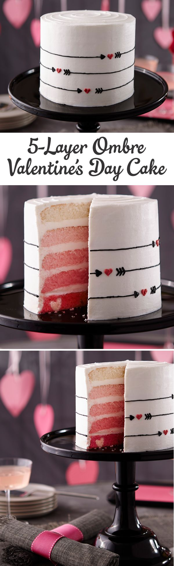 Valentine's Day 5-Layer Ombre Cake how-to from @michaelsstores