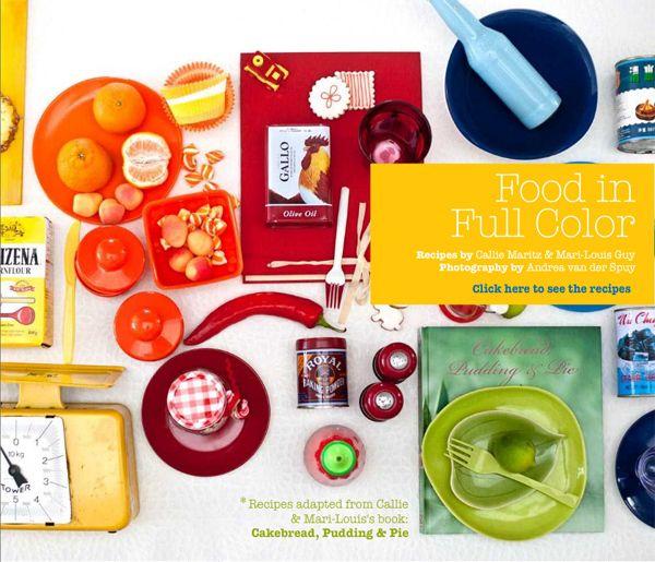 Food in Full Color - Crush Magazine Online by Andrea van der Spuy, via Behance