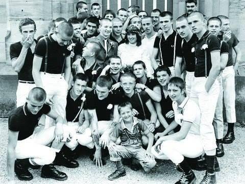 English Skinhead wedding 80's