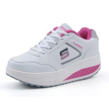 Похудения женщины кроссовки женщины кроссовки Женщины Платформа Фитнес Обувь Lady Свинг Фитнес обувь A681