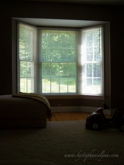 Make your own bay window curtain rod window treatments for Build your own window
