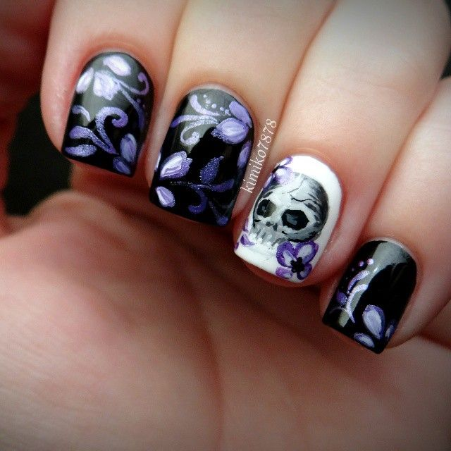 417 best Nails ~ Skulls images on Pinterest | Halloween nails, Nail ...