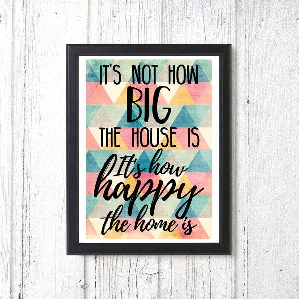 Originaldruck - Geschenk Umzug Poster Familie Freunde Haus - ein Designerstück von windstill-wolkenfrei bei DaWanda