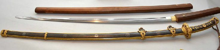 Gensui-to, a sword made for a Marshal-admiral, the highest rank in the prewar Imperial Japanese Navy, belonging to Fleet Admiral Prince Fushimi Hiroyasu, October 16, 1875 – 16 August 1946, a scion of the Japanese imperial family, a career naval officer who served as chief of staff of the Imperial Japanese Navy from 1932 to 1941, blade by Gassan Sadakatsu.