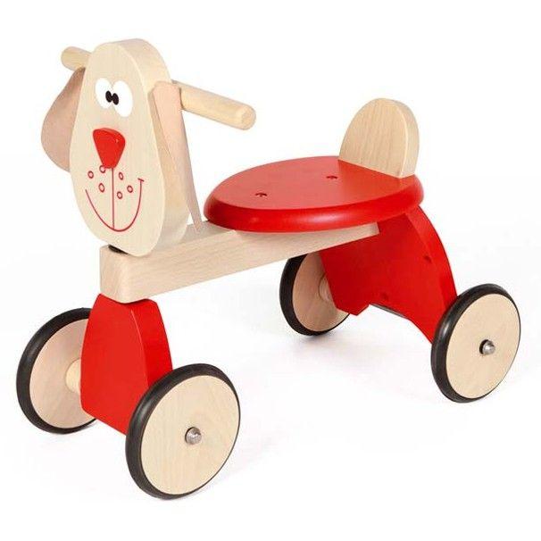 Correpasillos con 4 ruedas Perro rojo - Scratch