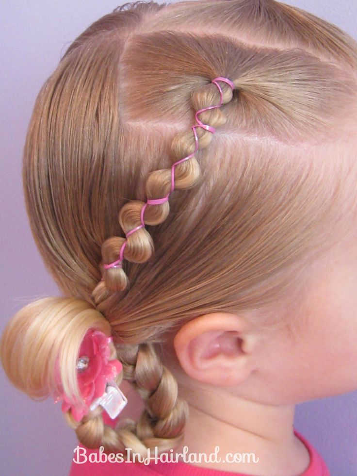 Rubber Band Wraps & Flipped Braids | Babes In Hairland