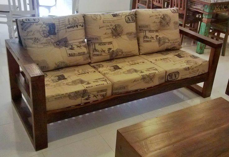 Reforma em sof de madeira pesquisa google sofas - Sofas de madera ...