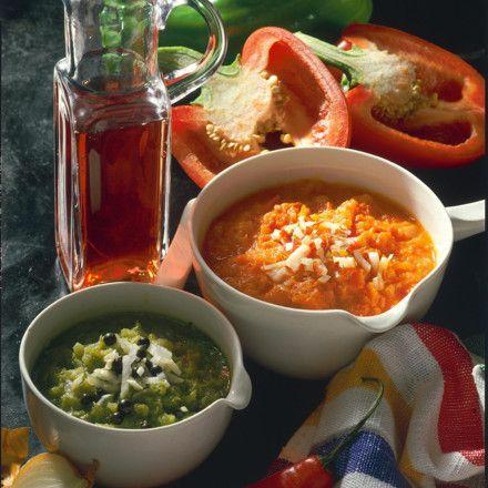 Rotes und grünes Paprika-Relish Rezept