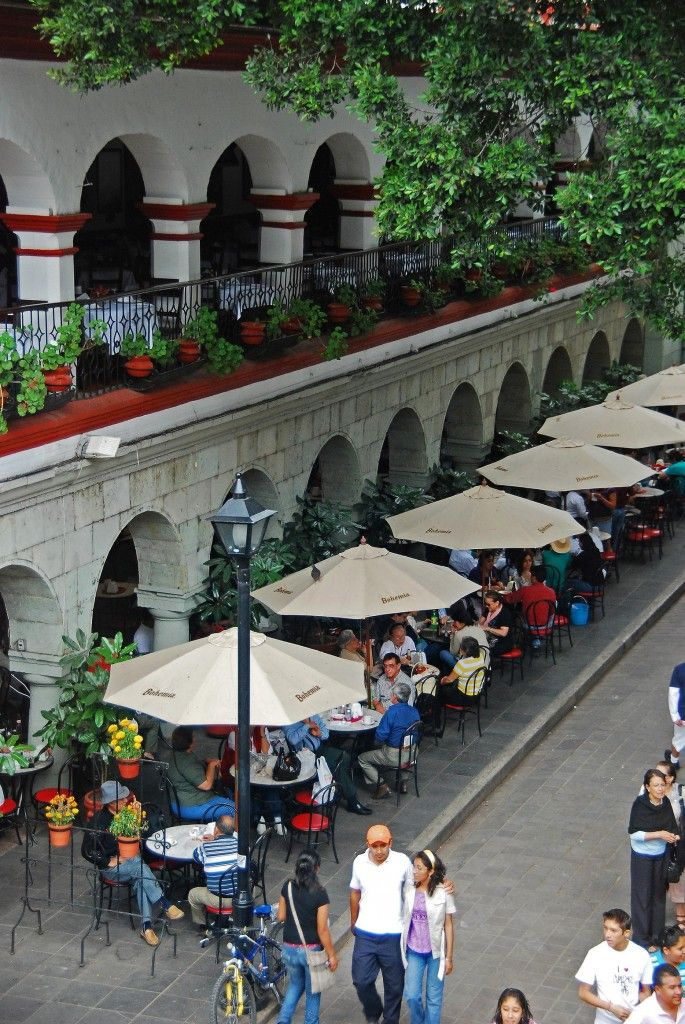 One of my favorite cities: Cafes in Oaxaca, Mexico - via BeerandBeans.com