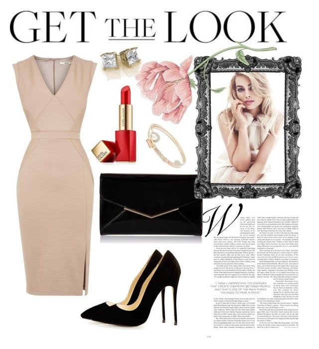 glamour | Get the Look by neeacamillaa on Polyvore featuring Oasis, Furla, Lipsy, Estée Lauder and GetTheLook