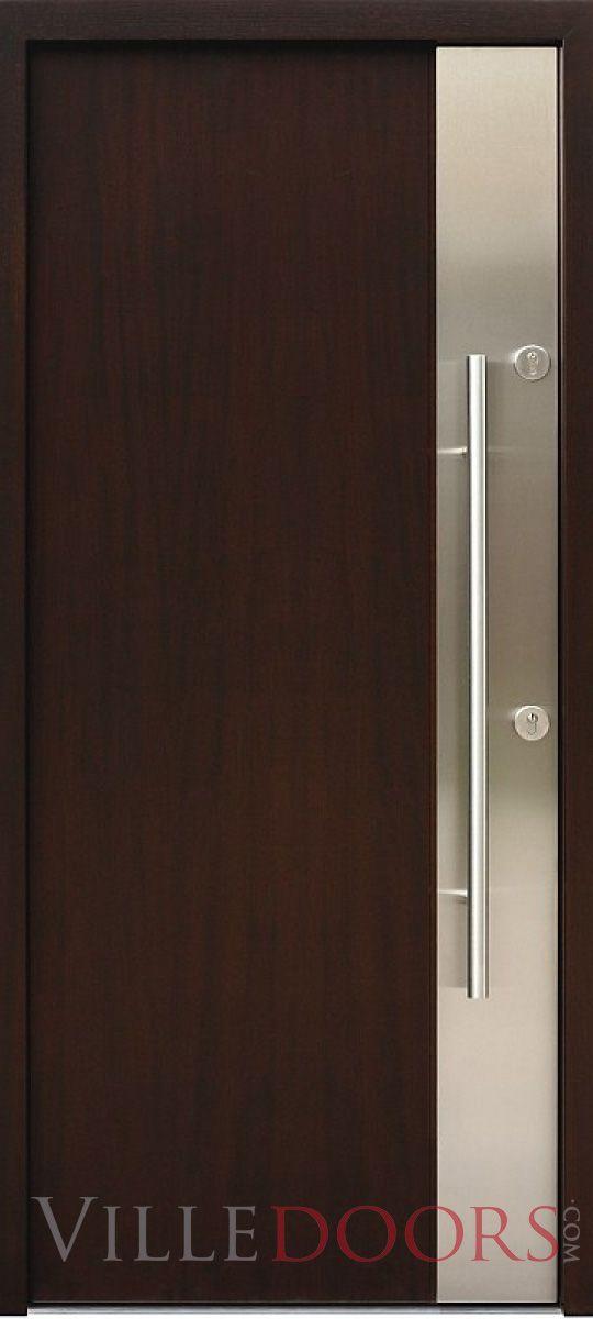 """Milano""- Modern Entry Door in Wenge Finish"