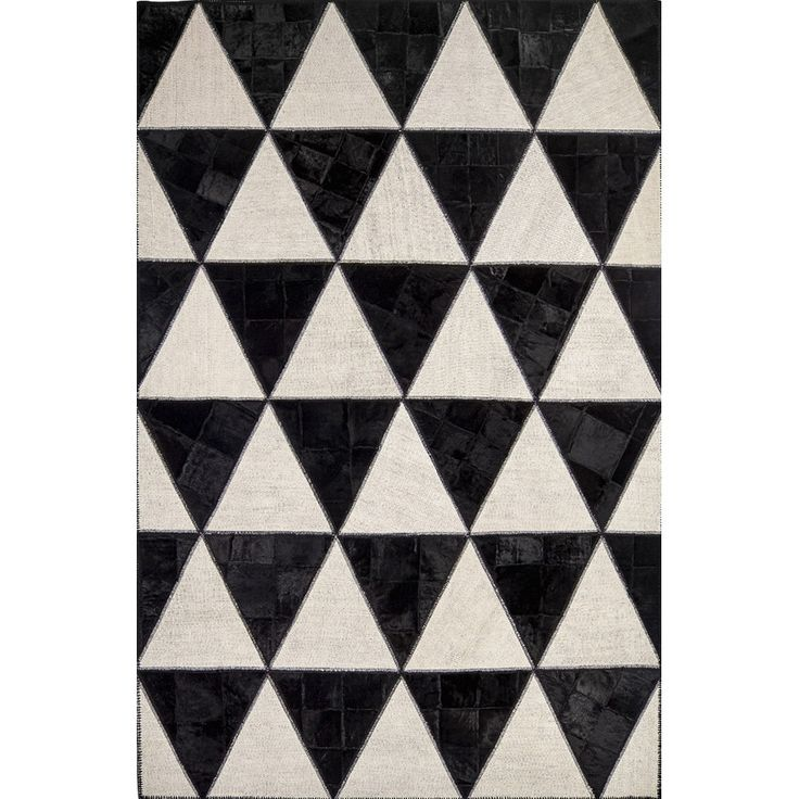 'Barby Rock' Italian luxury black and white triangular rug by Sitap at My Italian Living Ltd