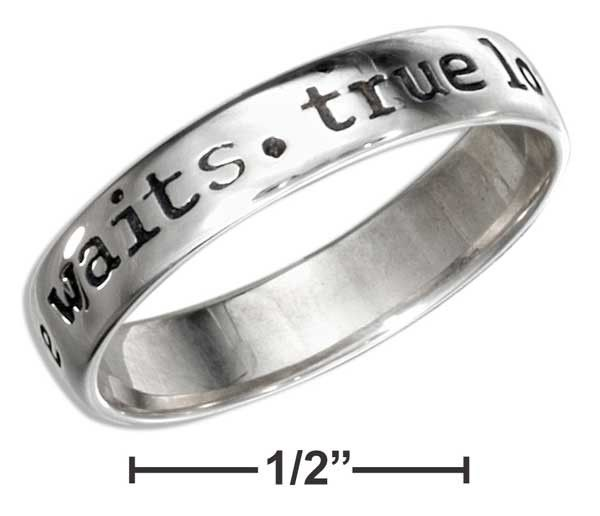 """Sterling Silver 5mm """"True Love Waits"""" Purity Ring"""