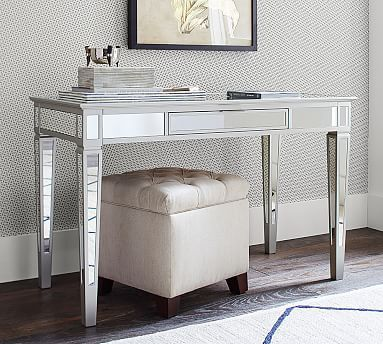 Park Mirrored Desk #potterybarn