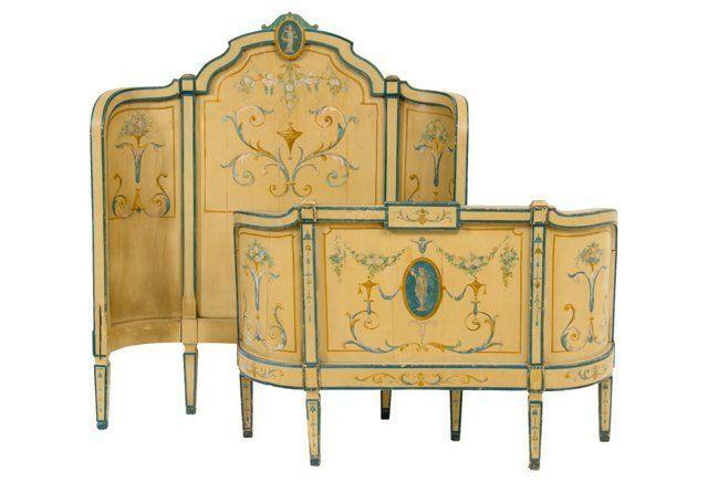 Early-20th-C. Italian Bed, Twin.