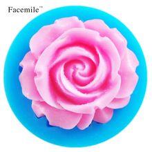 3d rose flower silicone stampo per torta del fondente che decora biscotto al cioccolato sapone fimo del polimero di resina argilla utensili da cucina 50-59(China (Mainland))