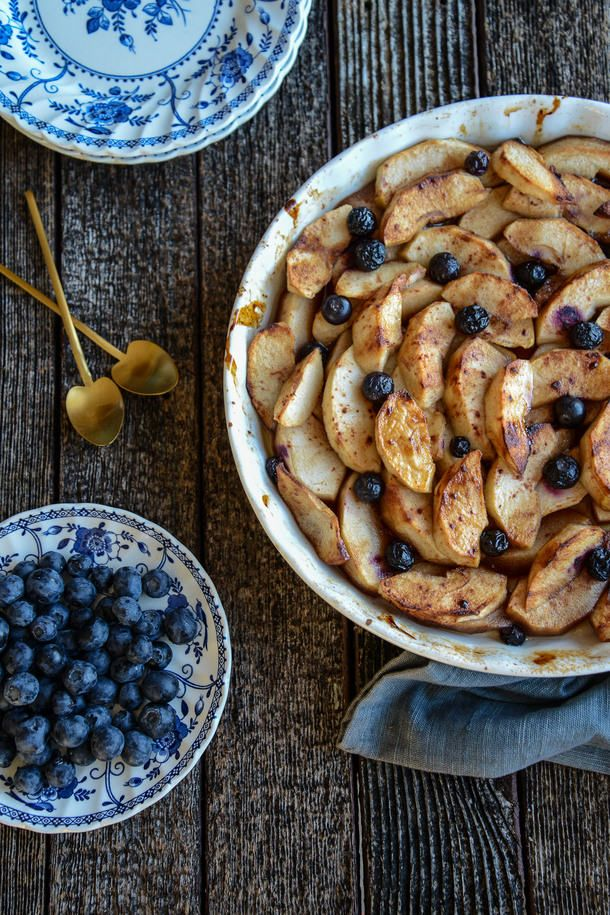 Blueberry and Apple Bake (dairy, gluten, egg, nut and refined sugar-free) (The Hungry Australian)