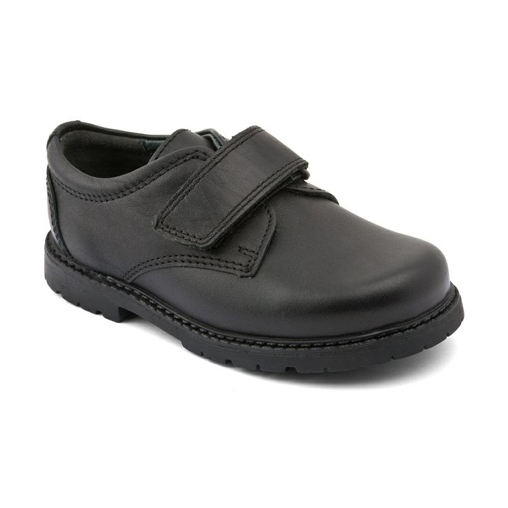 Will - Black Leather - these durable Start-rite boys school shoes are leather lined and light-weight, with a single rip-tape fastening.