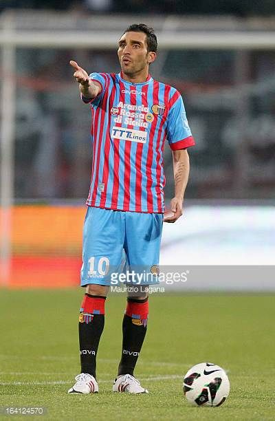 Francesco Lodi of Catania during the Serie A match between Calcio Catania and Udinese Calcio at Stadio Angelo Massimino on March 16 2013 in Catania...