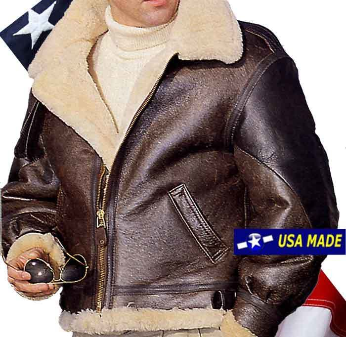 """The General"", the B3 Bomber Jacket, the real badass B3 worn by General Patton & Hodges, 100% Sheepskin with Horsehide leather arm protection. Made in USA."